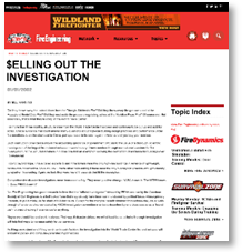 selling out the investigation, fire Engineering Magazine, editor Bill Manning, January 2002